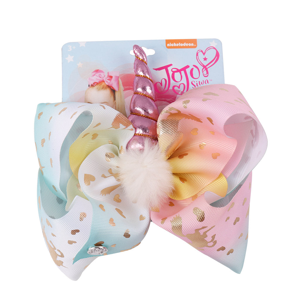 Pompom Unicorn Jojo Hair Bows