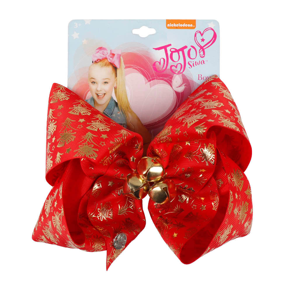 Christmas Bell Jojo Hair Bows