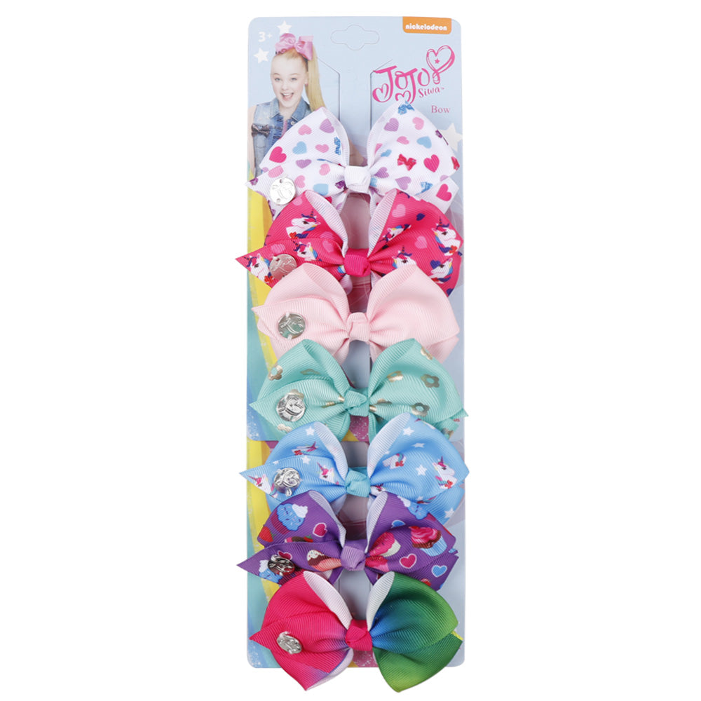 Cute Mini Jojo Hair Bow Clips Set