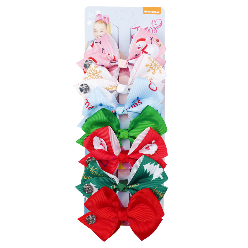 Christmas Mini Jojo Hair Bow Set
