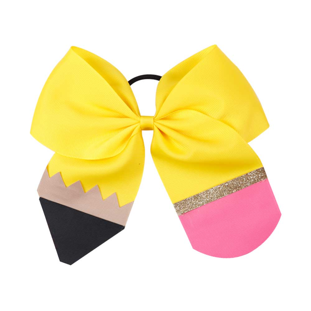 Back to School Pencil Cheer Bows