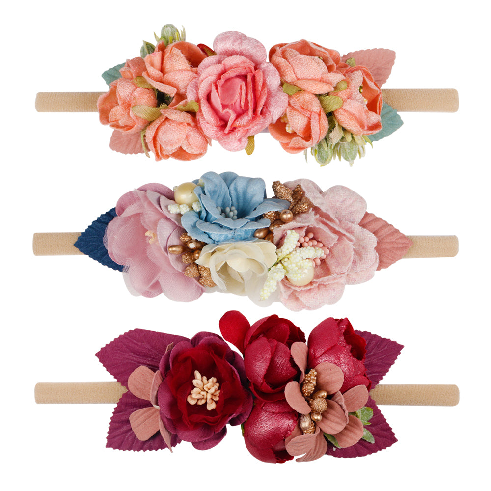 Baby Girl Floral Elastic Headbands