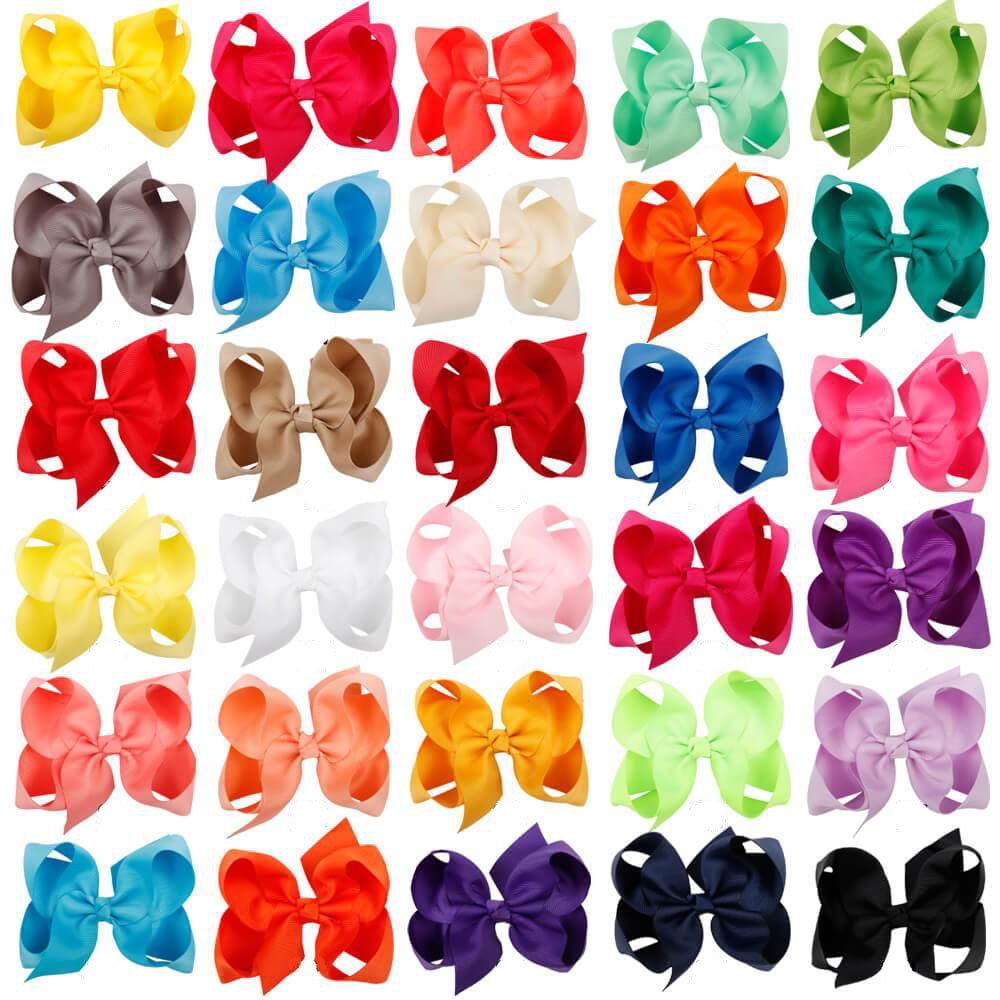 30pcs 4 inch Hair Bows | Baby Girl Bows
