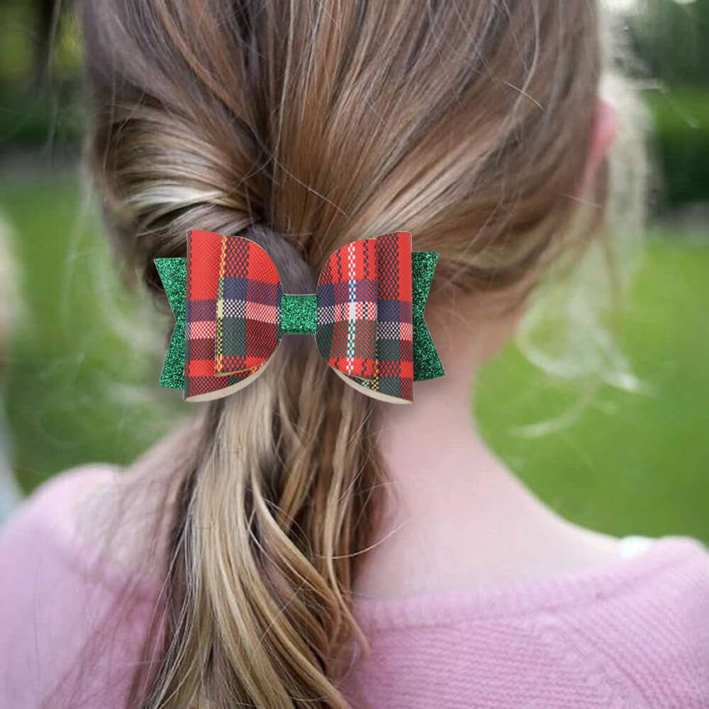 Xmas hair clips for girls