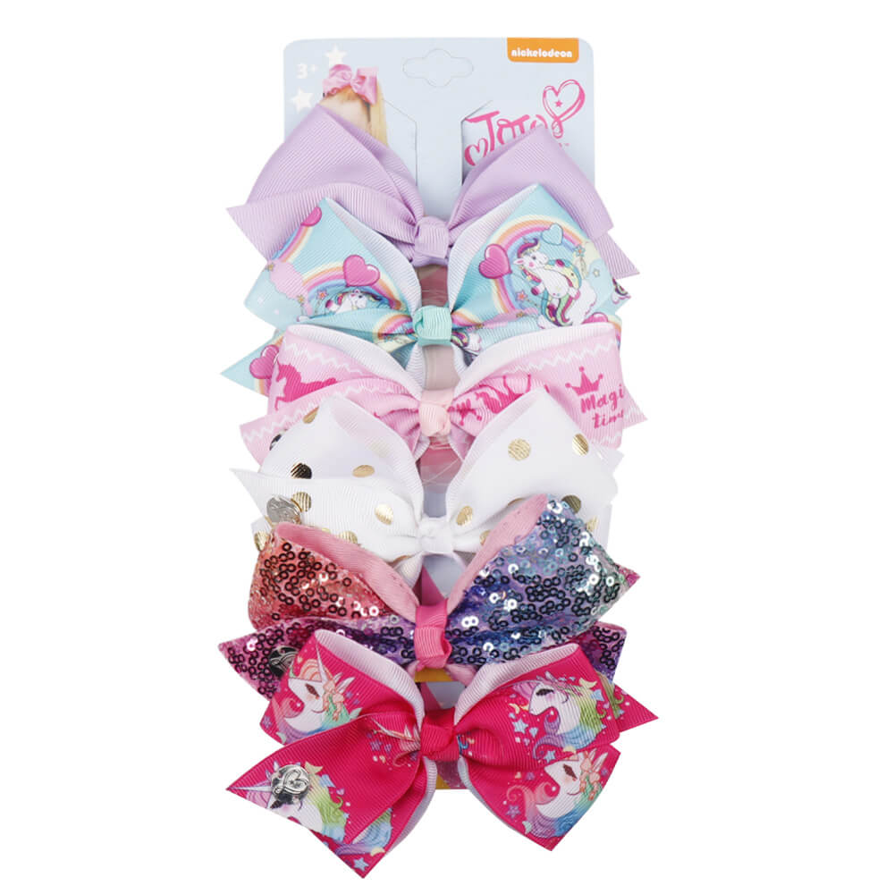 Baby Girls Mini Jojo Hair Bow Clips Set