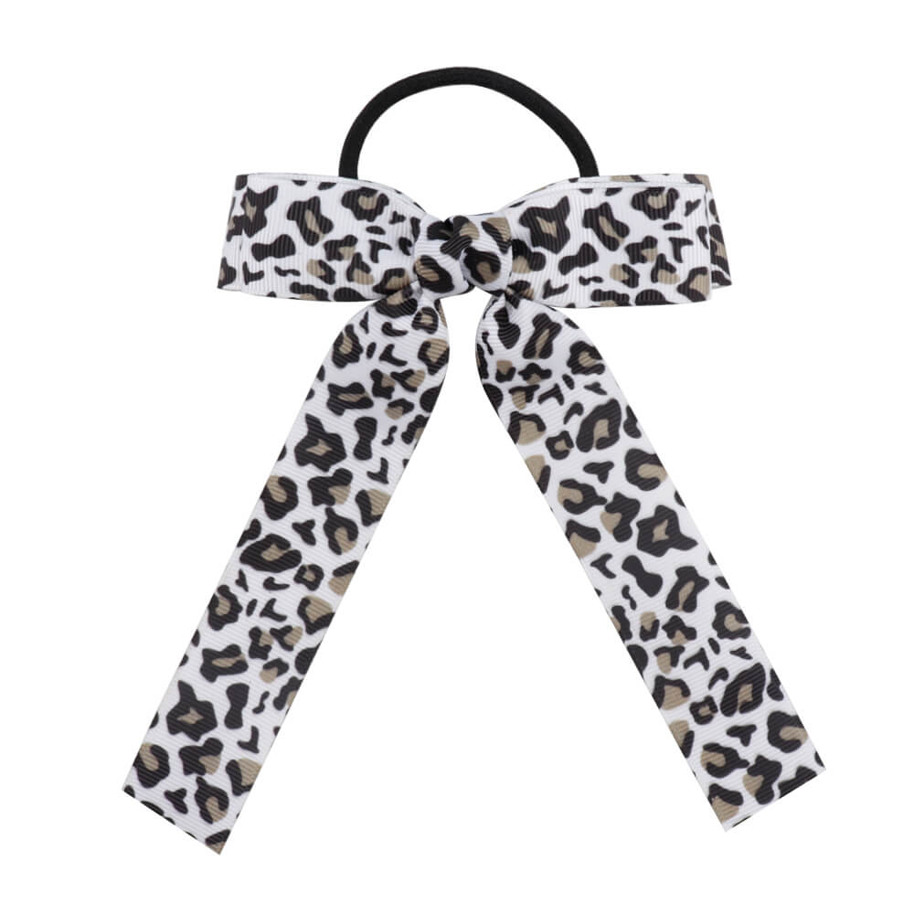 Velvet Scrunchie Leopard Elastic Hair Bands