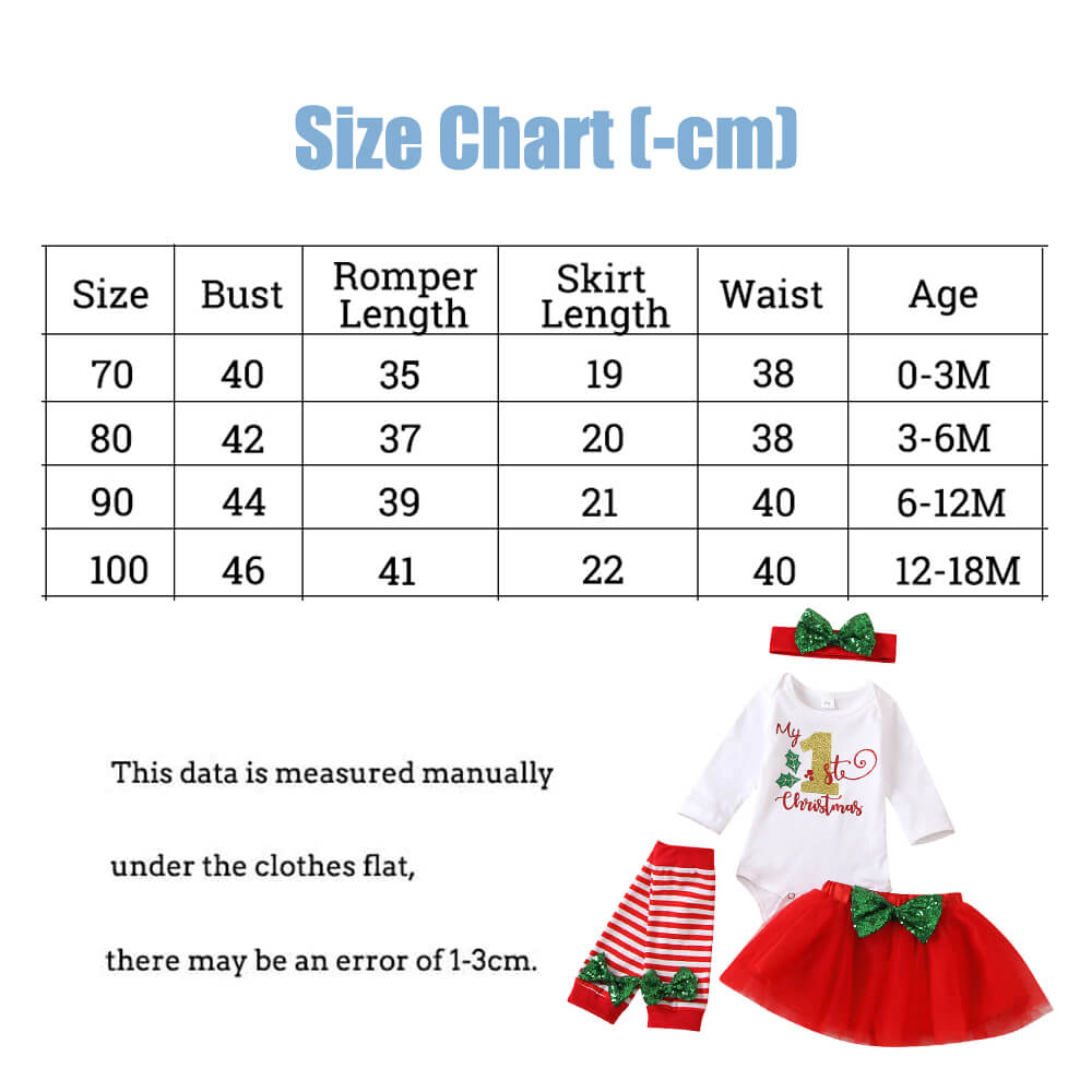 Christmas Baby Girl Romper Red Skirt