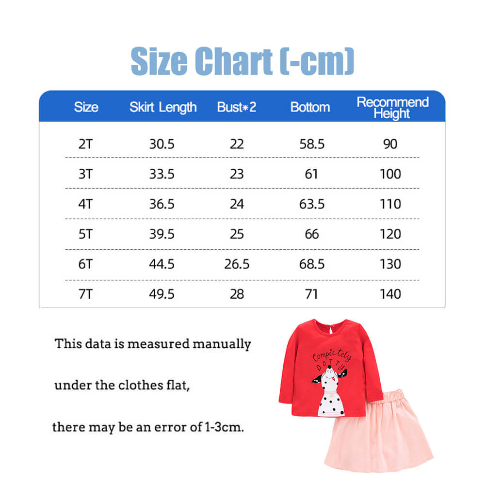 Cartoon Puppy Girls' Short Skirt Suit