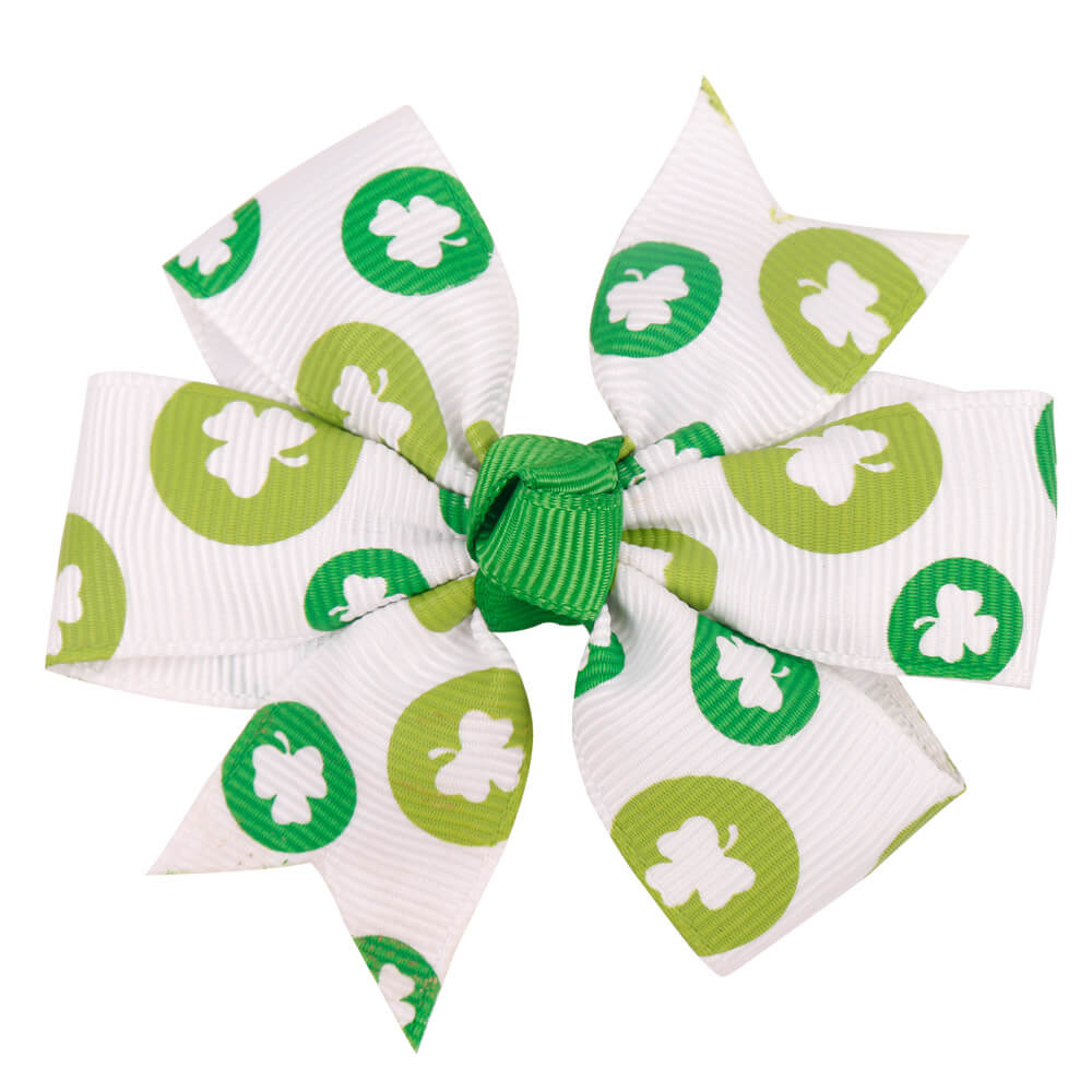 Shamrock Hair Bows | Toddler Girl Hair Bows