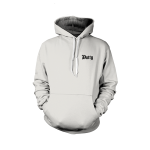 Dutty Small Logo White Hoodie
