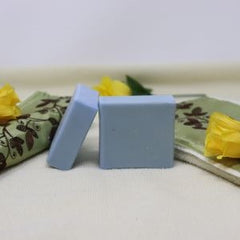 This By the Sea Soap Shoppe bar of soap is called Latheric. Picture shows 2 blue Latherific bars of soap. This soap contains Castor Oil which increases its moisturizing qualities and increases the lather. There are no additional scents added. $5.00 each.