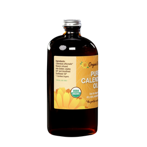 Pure Calendula Infused Oil, Certified Organic