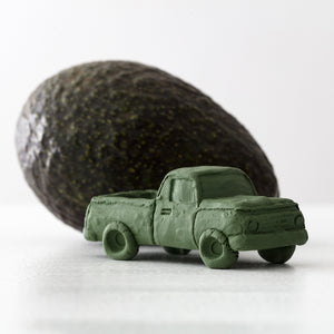 Avocado Green Truck Ceramic Car, Limited Edition