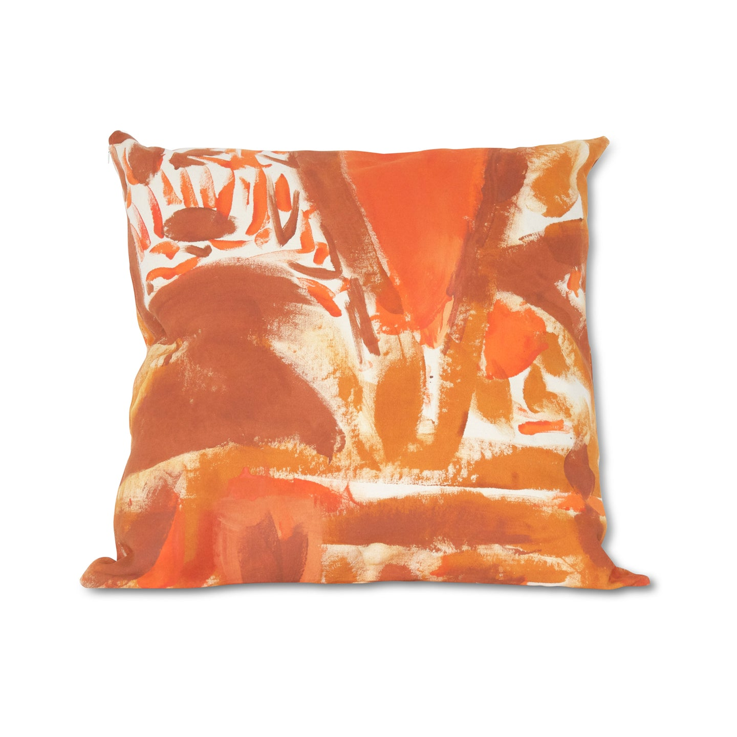 Rust Hand-Painted Two Hue Canvas Floor Cushion