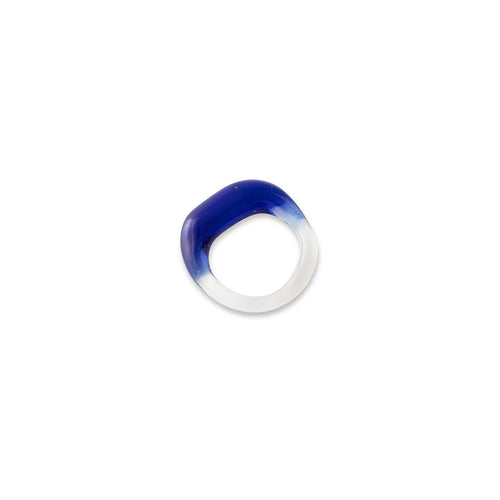 Organic Band, Cobalt, Clear Ring