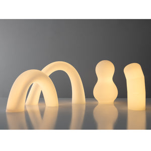 White Worm Hand-blown Glass Inhabitants Light