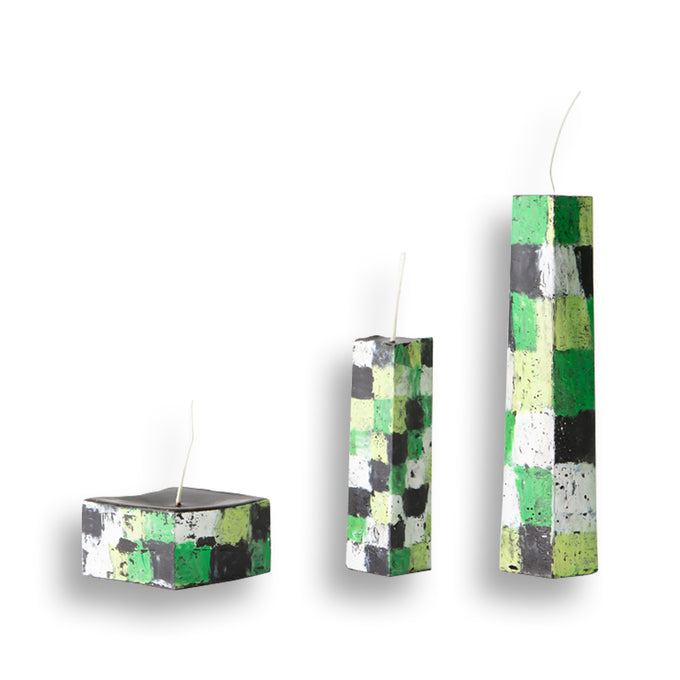 Green Stack Candles
