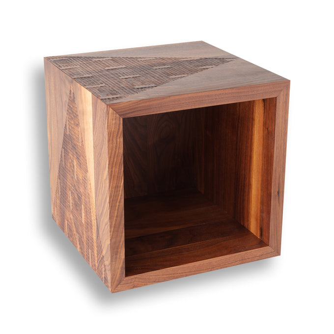 Walnut Pyramid Cube