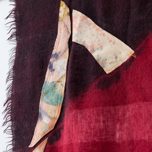 Quilt Painting Triangle 18 Wool Tapestry Textile Art