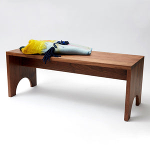 Walnut Arc Bench