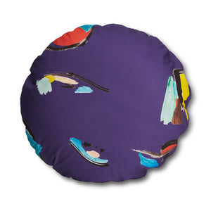 Purple Pod Circle Pillow