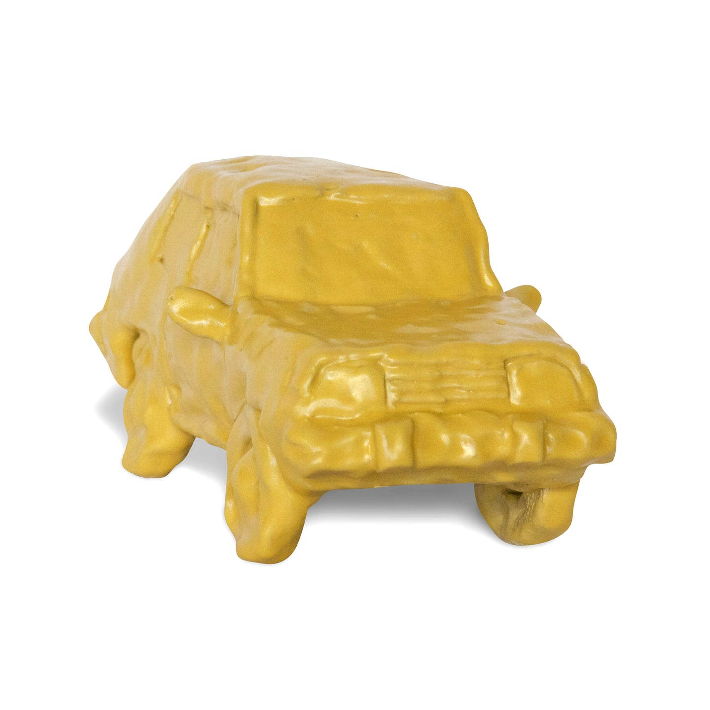 Yellow Ceramic Car