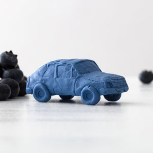 Blueberry Hatchback Ceramic Car, Limited Edition