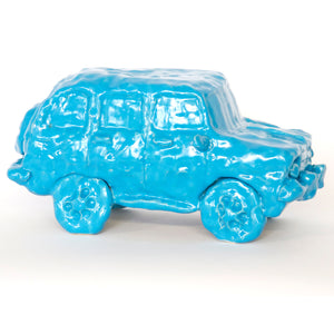 Blue Ceramic Car