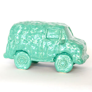 Green Ceramic Van