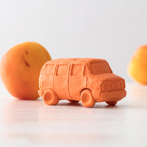 Peachy Orange Van Ceramic Car, Limited Edition