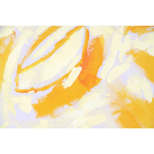 Yellow Two Hue Hand-Painted Rectangle Pillow