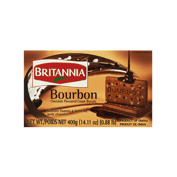 Britannia Bourbon Chocolate Cream Biscuits