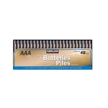 Kirkland Signature AAA Alkaline Batteries, 48-count