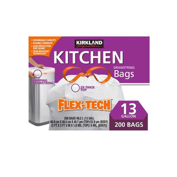 Kirkland Signature Flex-Tech Kitchen Bags, 200 x 13 gal