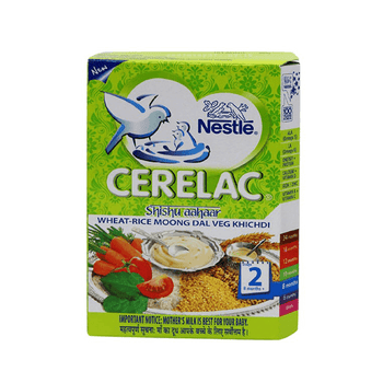 Nestle Cerelac - Shishu Aahaar - Wheat, Rice, Moong Dal - Veg Khichdi - Stage 2