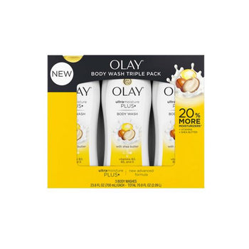 Olay Ultra Moisture Plus Body Wash, 3 x 23.6 oz