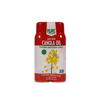 Pure & Simple Canola Cooking Spray, 2 x 17 oz
