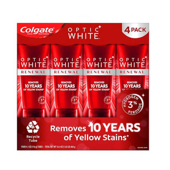 Colgate Optic White Renew Toothpaste - 4 x 4.1 oz