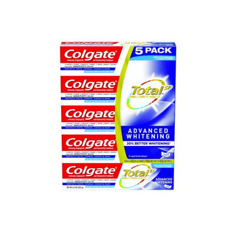 Colgate Total SF Advanced Whitening Toothpaste, 5 x 6.4 oz