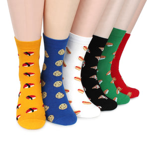 (6 Pairs) Men Food Pattern Fashion Socks  with Fine Cotton ZF16 - intypesocks