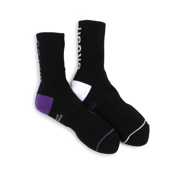Crush for U Rugby Ribbed Street Fashion Socks (Crew 5pairs) AO15 - intypesocks