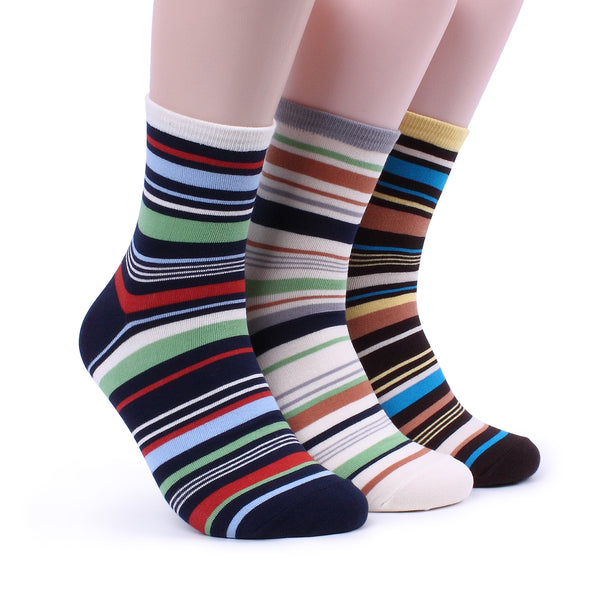 Men Colorful Multi Stripe Socks (5 Colors) Paul Smith Style Pop Awesome Funky EG15 - intypesocks