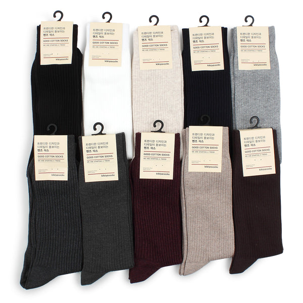 Mens Ribbed Classic Dress Socks MG - intypesocks