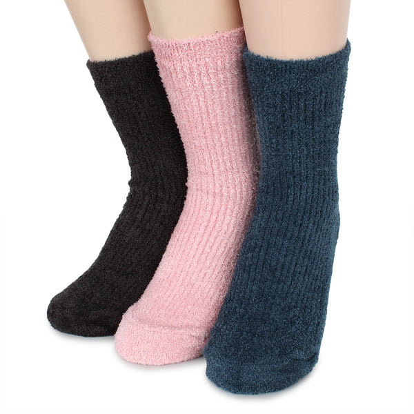 Unisex Fleece Crew Socks Cozy Winter costume XOC - intypesocks