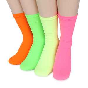 Neon street fashion stocking women ribbed high socks YG14