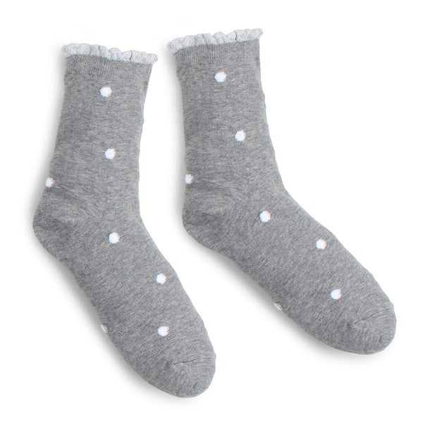 (5 Pairs) Polka Dot Casual Socks with INTYPE Sticker Crew socks FR15 - intypesocks