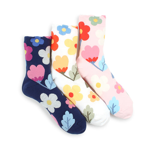 Wild Flower Pattern women Socks JG13