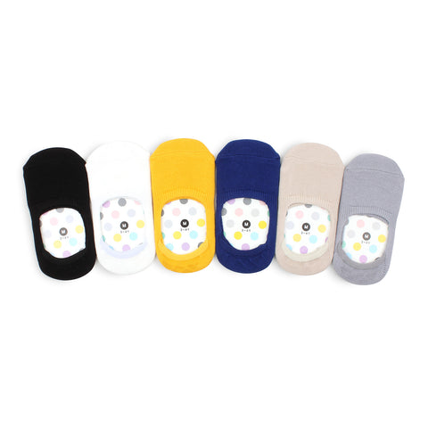 Kids Cotton Non Slip Basic Pastel Color Socks Kids Basic - F16