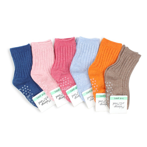 Kids Cotton Non Slip Pastel Color Socks C16