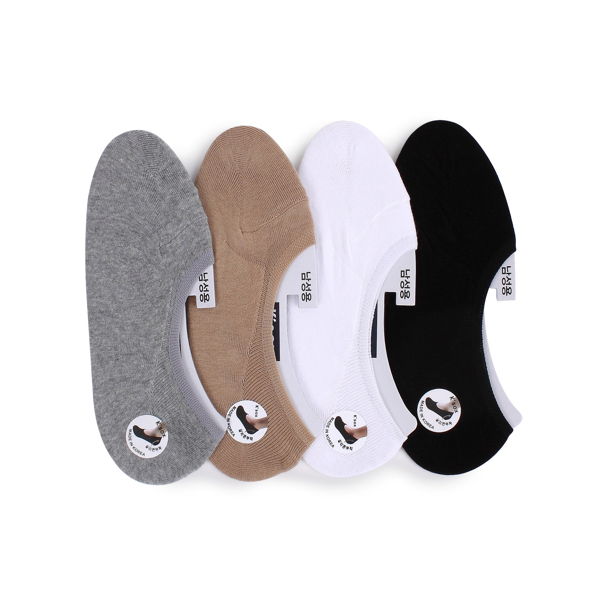(4pairs) Basic Seamless Men no show Socks MC14 - intypesocks